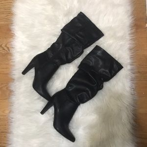 Christian Siriano Faux Leather Knee High Boots